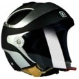 Steelbird - Open Face Helmet - SB-29 (Two Tone Matte Black With Silver) [Size : 60cms]