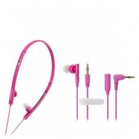 Audio Technica ATH- CKP330 In Ear Neckband (Pink)