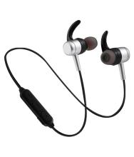 1Pc Compatible With IOS Android Bluetooth Sports Headphones Silver Bass