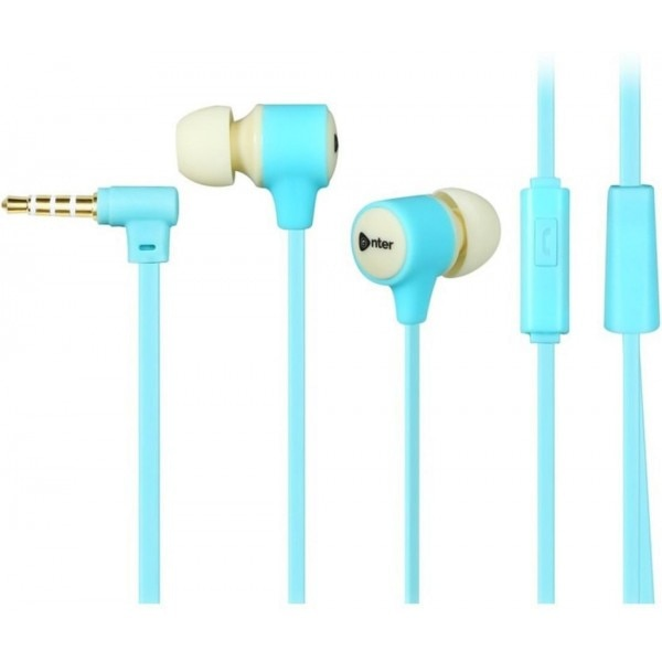 Enter E-EP11M (Blue) Earphones with Mic Wired bluetooth Headphones ...