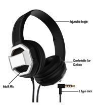 REBORN PREMIUM QUALITY Over Ear Wired With Mic Headphones/Earphones