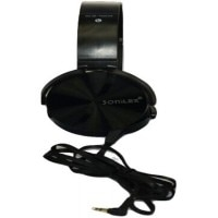 Sonilex SLG1009 Stereo Dynamic Headphone Wired Headphones (Black, On the Ear) Front View