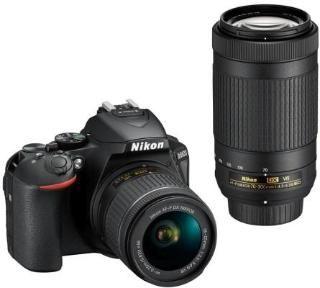 Nikon D5600 AFP 18-55 VR & AFP 70-300 VR Camera Black