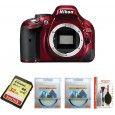 Nikon D5200 DSLR VR Kit AF-S18-55mm Red