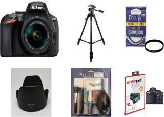 Nikon D5600 (With Basic Accessory Kit) DSLR Camera Body with Single Lens: AF-P DX Nikkor 18-55 MM F/3.5-5.6G VR (16 GB SD Card)(Black)
