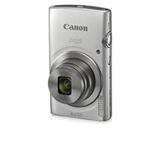 Canon IXUS 185 20MP Digital Camera with 8X Optical Zoom (Silver) + Memory Card + Camera Case
