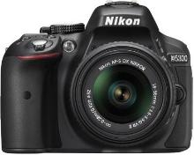 Nikon D5300 DSLR Camera Body AF-P DX Nikkor 18-55 mm VR Kit Black