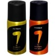 7 by M S Dhoni Deodorant Spray Set of 2 (Action, Power) 150ml Each
