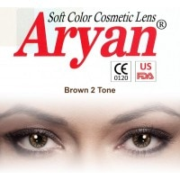 36942e92ffe Aryan 2 Tone Brown By Visions India Yearly Contact Lens (-4.00