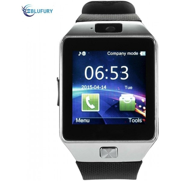 6ab78516ae5 Blufury BLFDZ0916SB Smartwatch Silver  amp  Black Price in India ...