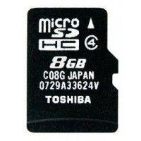 Toshiba microSDHC C08G 8GB Class 4 Memory Card