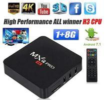 ACR TRADE MXQ Pro 4K Android TV Box 1GB RAM 8GB ROM 64 Bit Quad Core Wi-Fi UHD Smart TV Box - (Black)