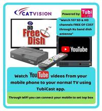 Catvision Advanced 2 in 1 Set Top Box with Mobile Cast to Television | HDMI Connectivity | 2 Years Warranty |