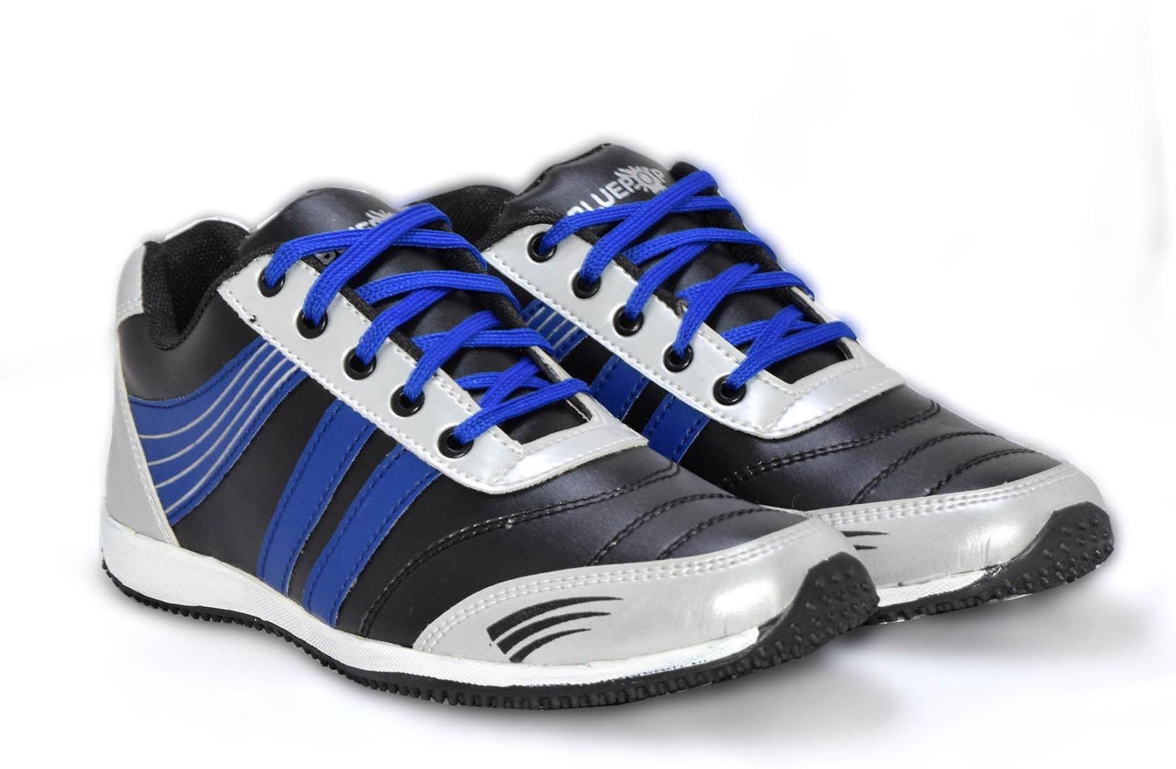 BLUE POP Blue Pop 1226 Multi colour lace up casual shoesh Outdoors(Black)