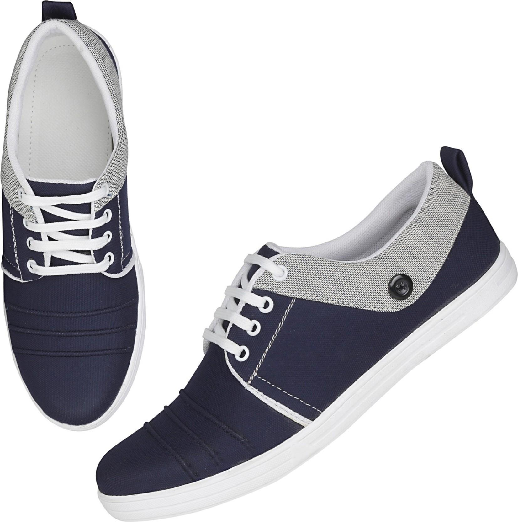 Emosis Canvas_Shoe Canvas Shoes, Casuals, Corporate Casuals, Dancing Shoes, Outdoors, Party Wear, Sneakers(Blue, Grey)