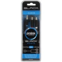 Prolink 3.5 mm Stereo Plug - 2 x RCA Cable Data Cable
