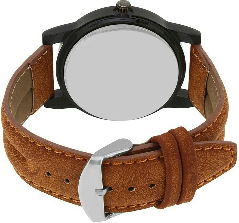 Kajaru Round Dial Multi Analog Watch-KJR01-BRN