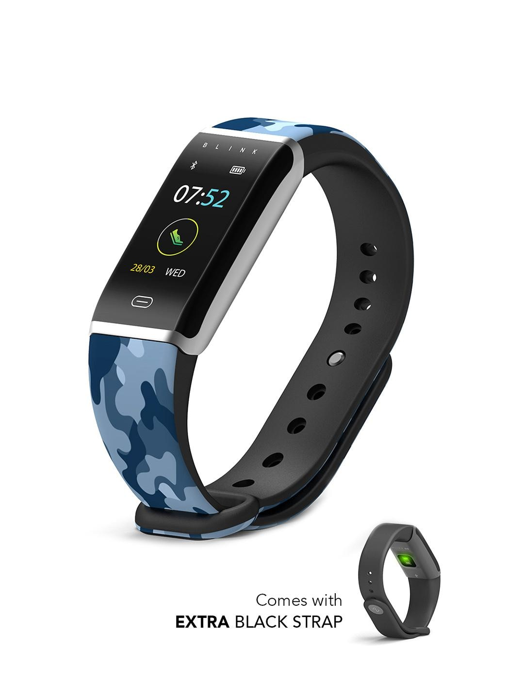 Blink GO - Aqua Silver (extra Black Strap) Fitness Wearable Band