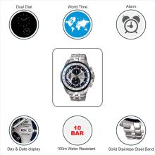 Casio ED437 Edifice Analog Watch - For Men