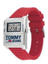Tommy Hilfiger Tommy Jeans Men Silver-Toned Digital Watch TH1791674W