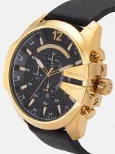 DIESEL Men Black Analogue Chronograph Watch DZ4344_SOR