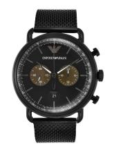 Emporio Armani Men Black Analogue Watch AR11142