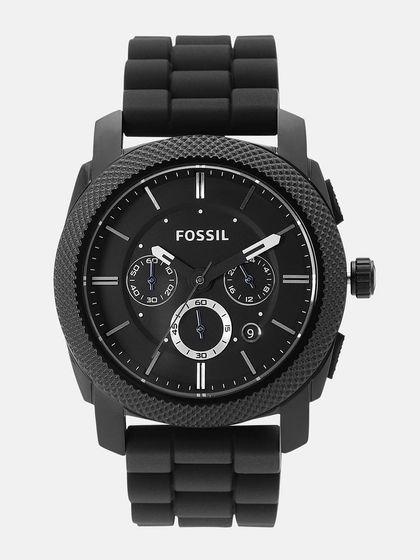 Fossil Men Black Analogue Watch FS4487 Price