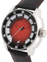 Fastrack Men Red & White Analogue Watch NK3089SL10_OR2