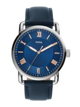 Fossil Men Blue Leather Analogue Watch FS5662