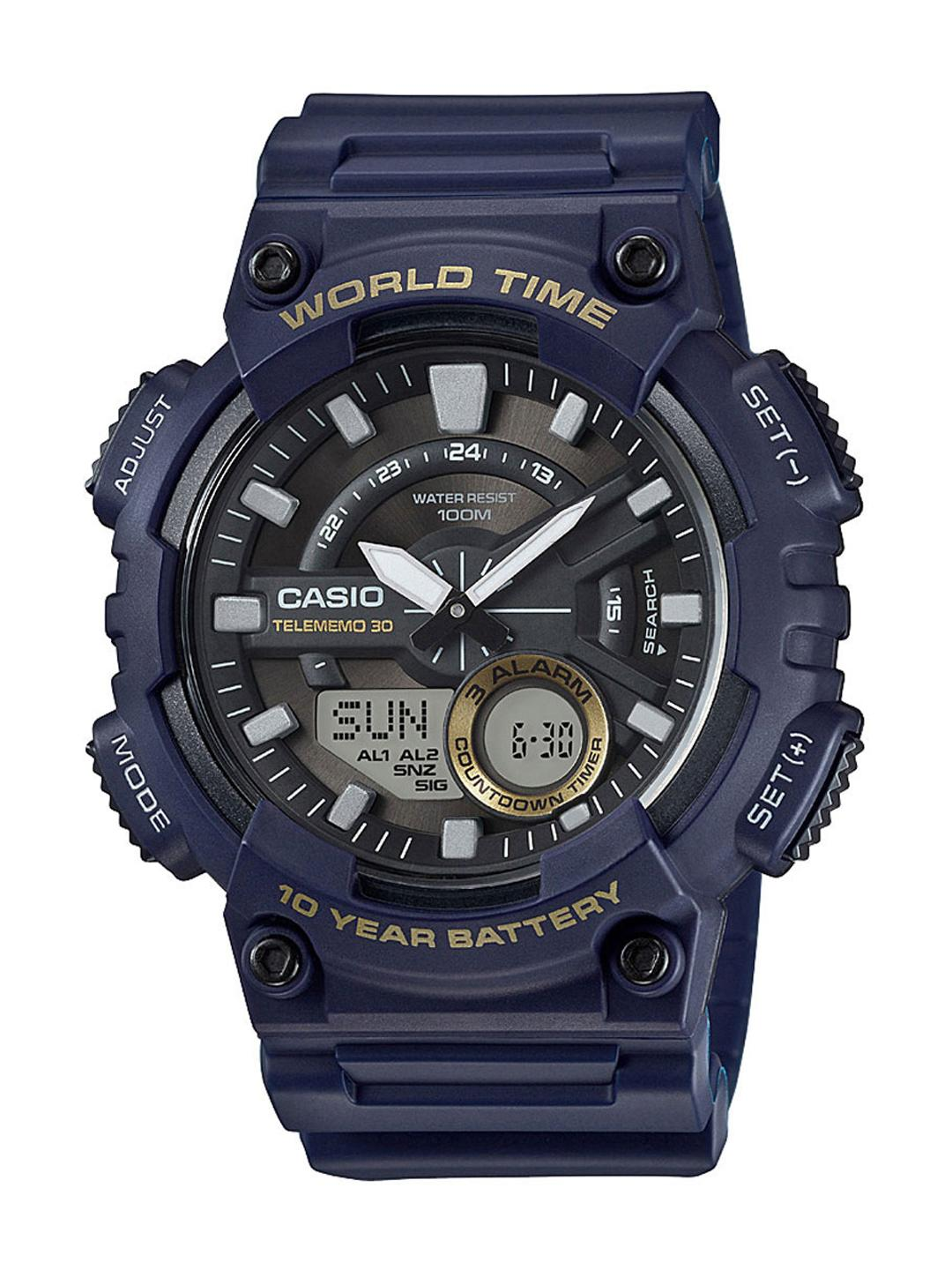 CASIO Youth Series Men Blue Dial Analog-Digital Watch AEQ-110W-2AVDF - AD208
