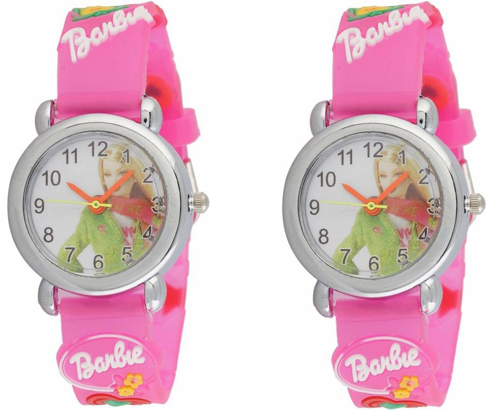 keepkart Pink Brabie Childen Watch Combo Pack Of- 2 Watch - For Boys & Girls