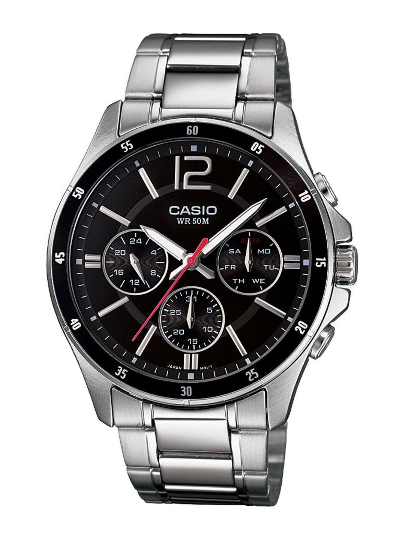 CASIO Enticer Men Black Multi-Dial Watch MTP-1374D-1AVDF - A832
