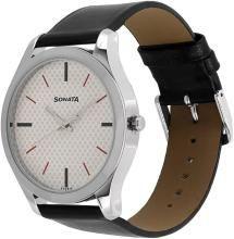 Sonata 77063SL04 Analog Watch - For Men