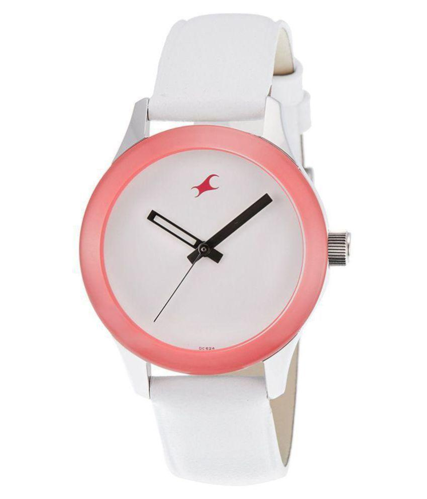 Fastrack Monochrome Analog White Dial Women's Watch -NK6078SL01
