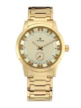 Titan Men Gold-Toned Analogue Watch 1792YM01