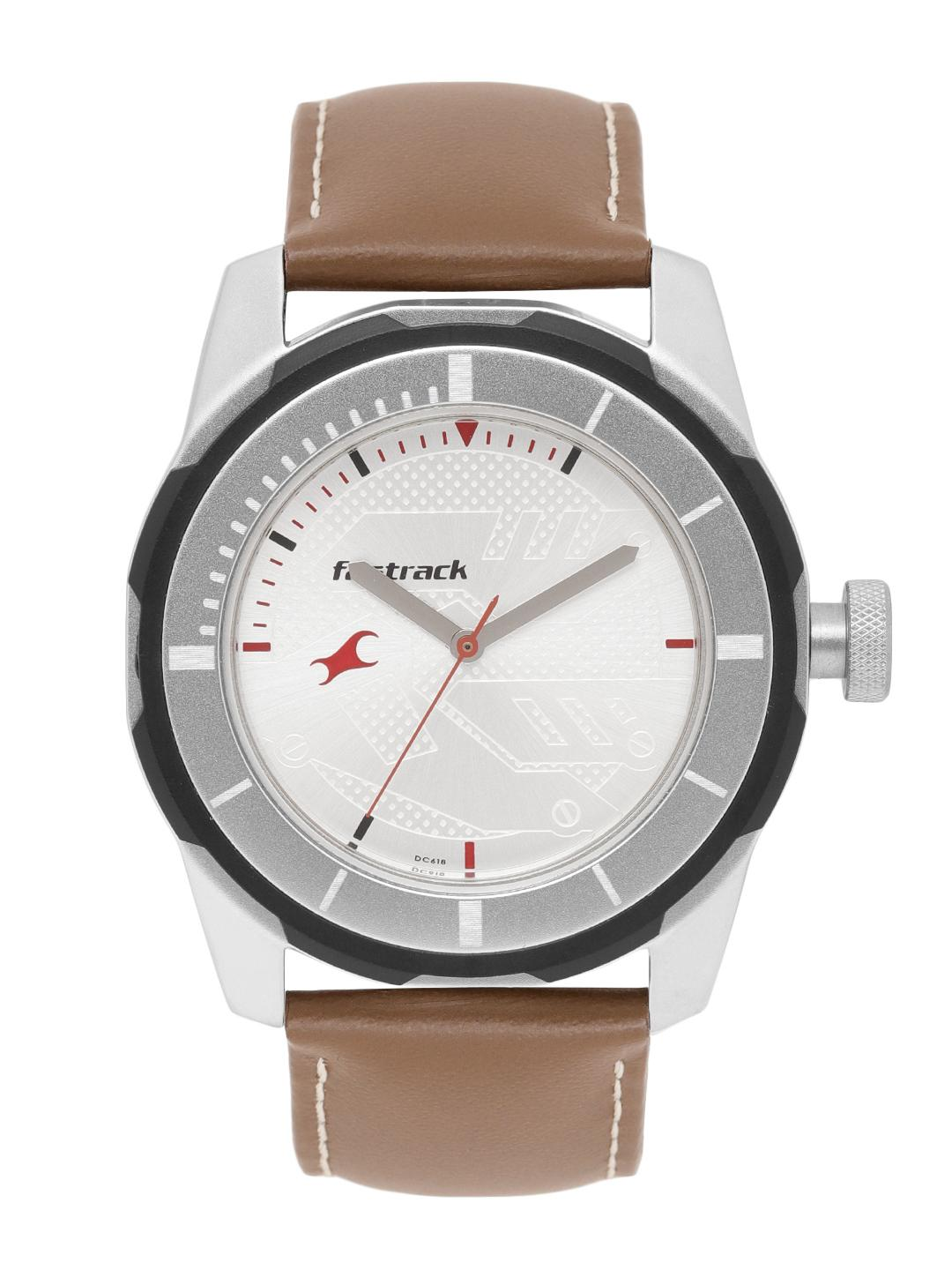Fastrack Men Silver-Toned Analogue Watch NK3099SL01_BBD1