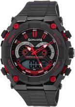 Sonata NH77030PP01J Superfibre Ocean III Analog-Digital Watch - For Men