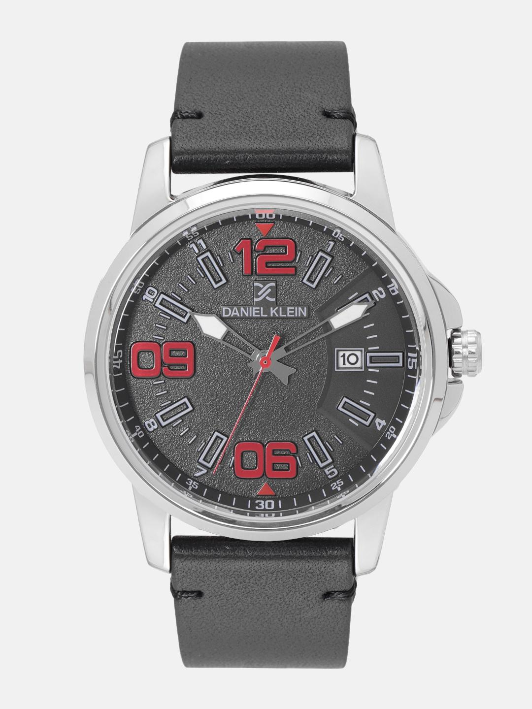 Daniel Klein Premium Men Charcoal Grey Analogue Watch 12131-2