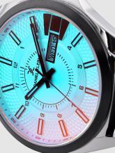 Daniel Klein Men Blue Textured Analogue Watch DK12172-1