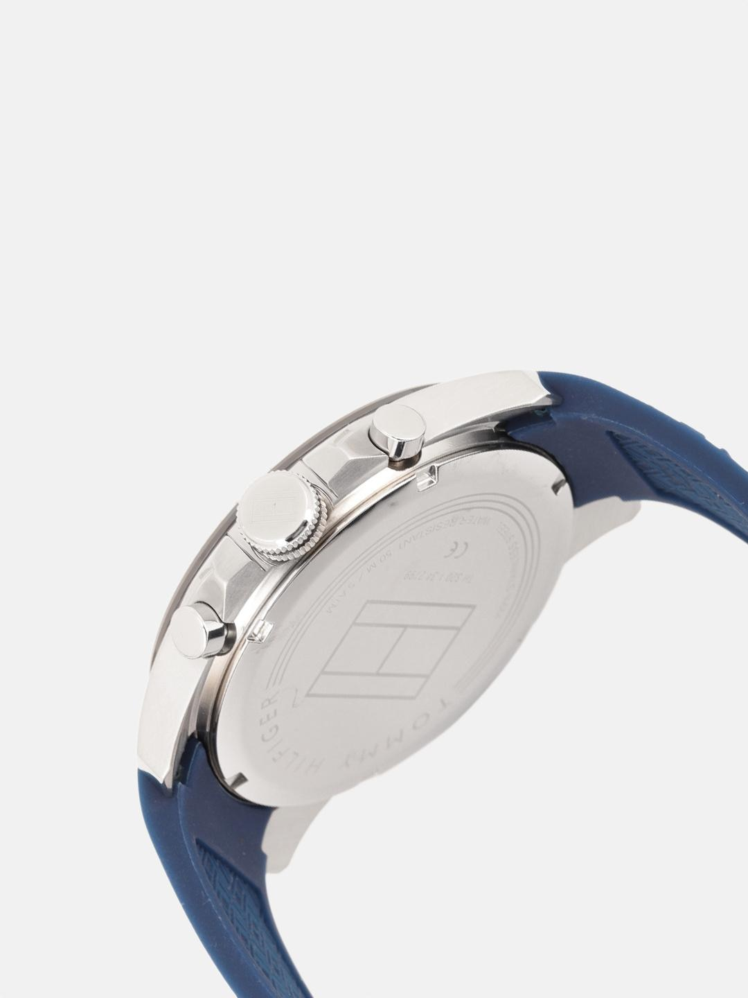Tommy Hilfiger Men Blue Textured Analogue Watch TH1791350W
