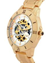 FOCE Men White & Gold-Toned Analogue Watch AUTOMATIC