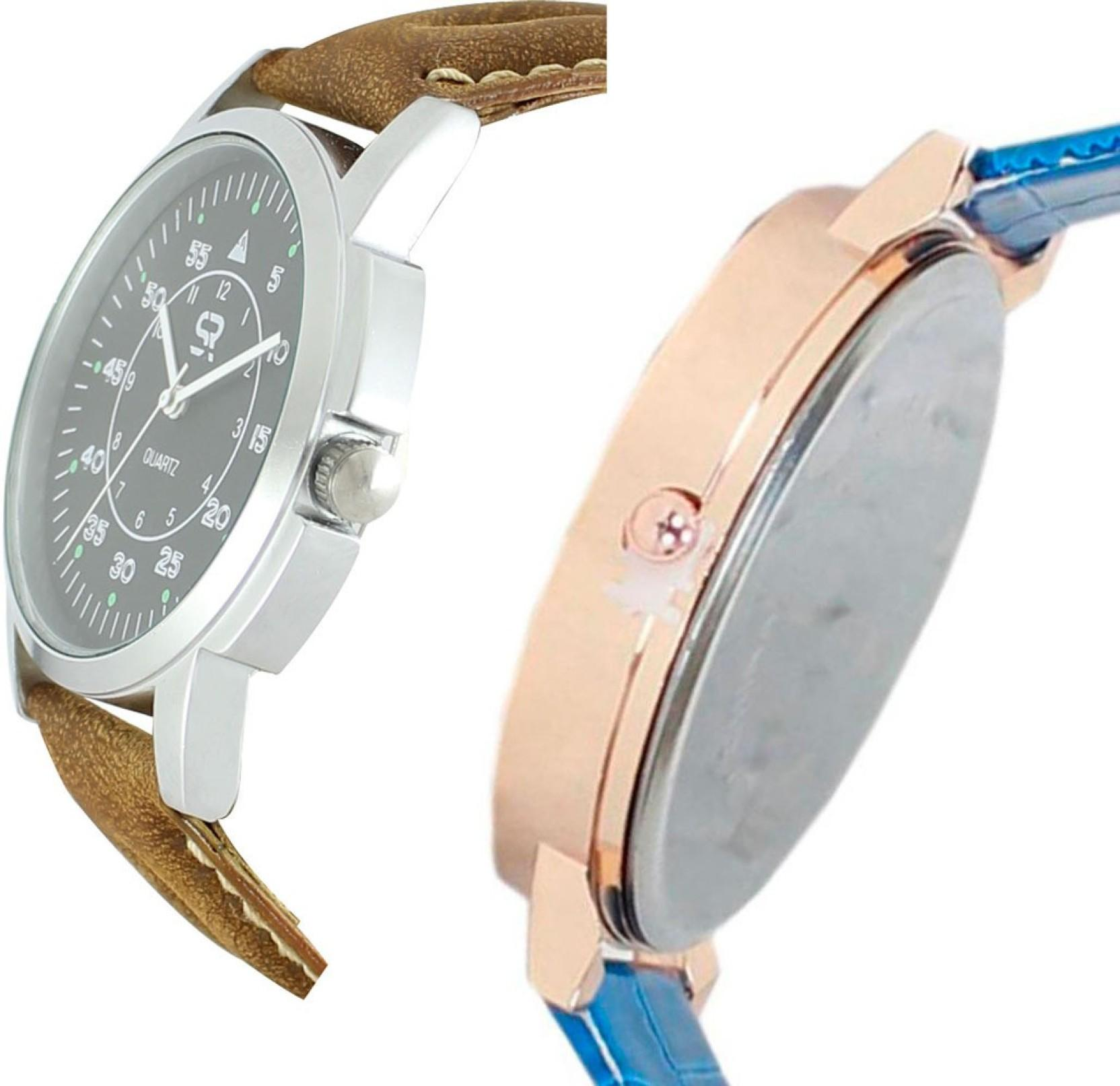 AD Global Fency Look Branded Collection Couple New Desginer Leather Strap With Best Offer SR-01_MX02 Watch - For Couple