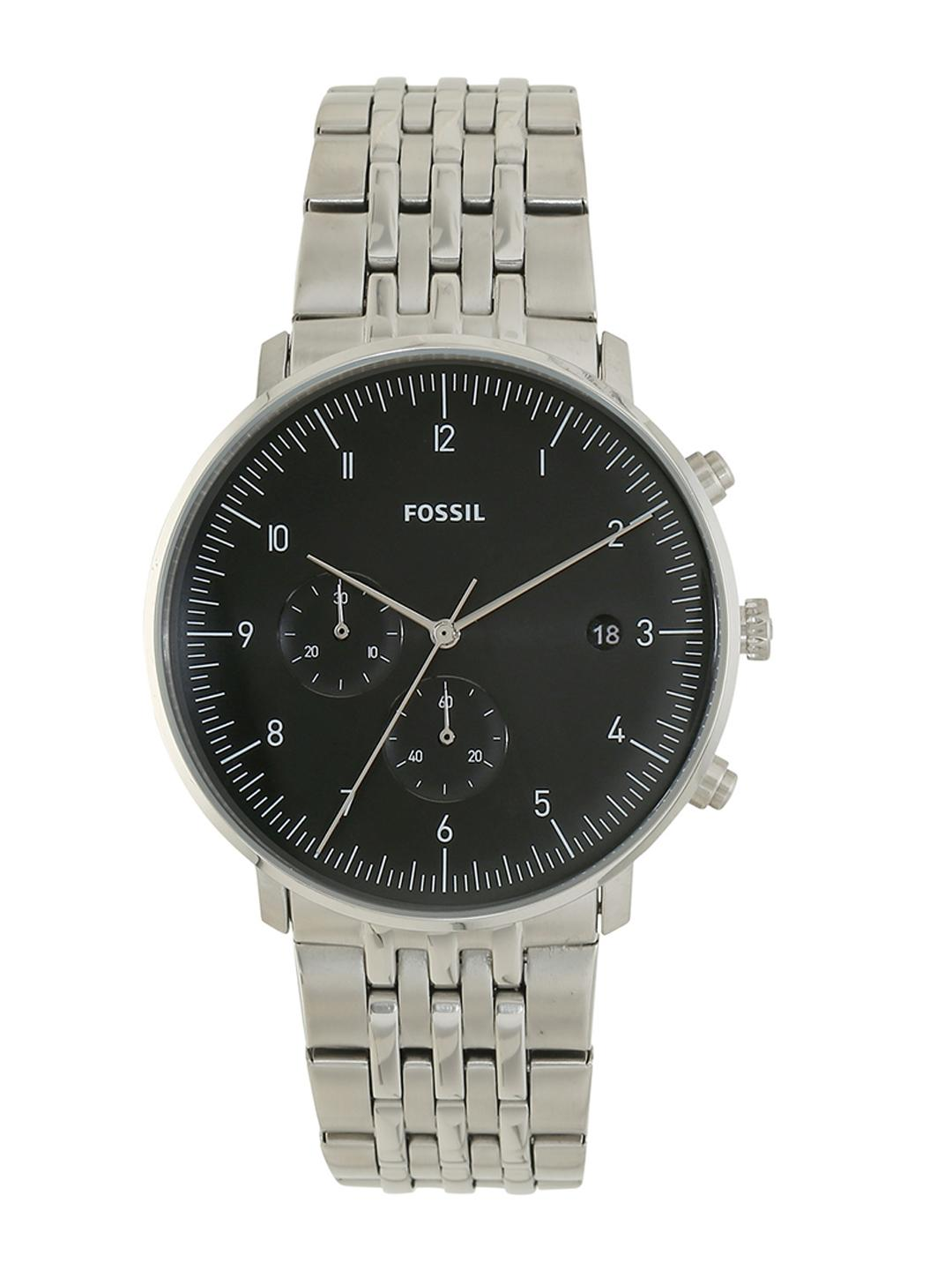 Fossil Men Silver-Toned Analogue Watch FS5489