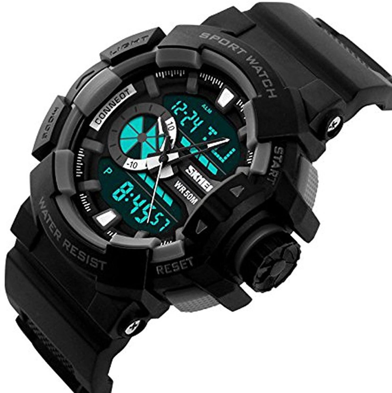 Skmei 1117 Black Button Watch - For Men