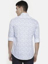 Calvin Klein Jeans Men Blue & White Printed Slim Fit Casual Shirt