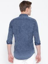 Calvin Klein Jeans Men Blue Slim Fit Acid-Wash Casual Shirt