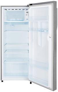 Haier 220 L 4 Star Direct Cool Single Door Refrigerator HRD-2204BS-R/HRD-2204BS-E (Brushline Silver-Silver Vivid)