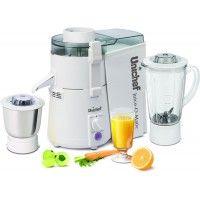 Unichef Juice-O-Matic Plus XL Series 835 W Juicer Mixer Grinder (White, 2 Jars)