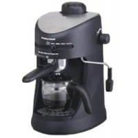Morphy Richards Europa Espresso / Cappuccino CM 4 Cups Coffee Maker (Steel Black)