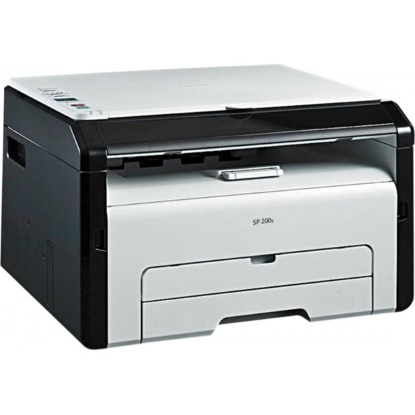 RICOH SP 200S Monochrome Multifunction Laser Printer (Black/White)